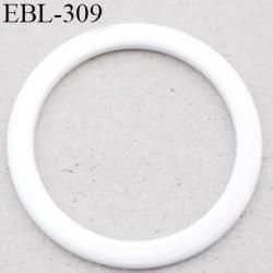anneau métallique 8 mm plastifié blanc  brillant laqué pour soutien gorge diamètre intérieur 8 mm prix à l'unité haut de gamme