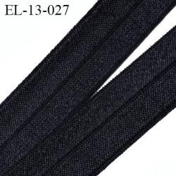 élastique 13 mm pré plié noir plat  souple largeur 13 mm,  pour , tissus en lycra ou extensibles  prix au mètre