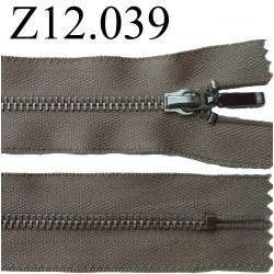 fermeture éclair longueur 12 cm couleur beige kaki non séparable zip métal