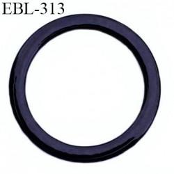 anneau métallique 9 mm plastifié noir  brillant laqué pour soutien gorge diamètre intérieur 9 mm prix à l'unité haut de gamme