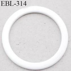 anneau métallique 6 mm plastifié blanc  brillant laqué pour soutien gorge diamètre intérieur 6 mm prix à l'unité haut de gamme
