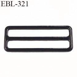 boucle de réglage 22 mm réglette métal plastifié noir brillant  largeur 22 mm intérieur prix à l'unité haut de gamme
