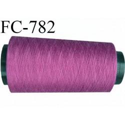 Cone de 5000 m fil polyester fil n° 100 couleur pivoine longueur de 5000 mètres bobiné en France