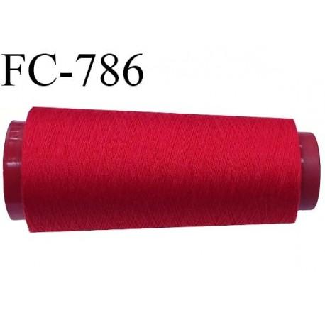 Cone de fil  2000 m polyester fil n° 80 couleur rouge longueur 2000 mètres bobiné en  France