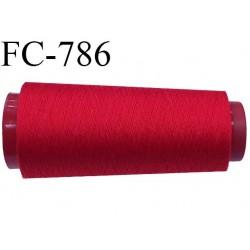 Cone de fil  5000 m polyester fil n° 80 couleur rouge longueur 5000 mètres bobiné en  France