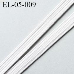 élastique plat 5 mm couleur blanc souple largeur 5 mm prix au mètre