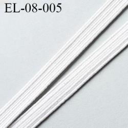élastique plat largeur 8 mm couleur blanc prix pour 1 mètre de longueur