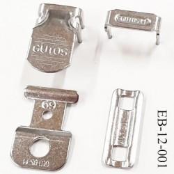 Attache agrafe pantalon en métal haut de gamme d'une grande marque européenne composé de 4 pièces prix des 4 pièces