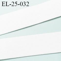 élastique 25 mm plat souple  largeur 25 mm couleur naturel prix au mètre