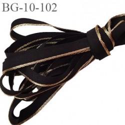 galon  ruban 10 mm  polyester  couleur noir et bordure or largeur 10 mm prix au mètre