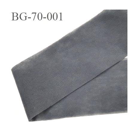 bande thermocollant 70 mm épaisseur fine ceinture jupe pantalon et autres réalisations couleur  gris largeur 70 mm prix au mètre