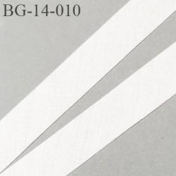 biais à plier 14 mm galon couleur naturel synthétique aspect comme le coton largeur 14 mm prix au mètre