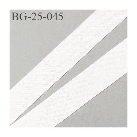 biais à plier 24 mm galon couleur naturel synthétique aspect comme le coton largeur 24 mm prix au mètre