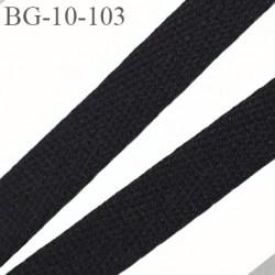 biais sergé 10 mm coton polyester épaisseur double possibilité de passer un cordon à l'intérieur  couleur noir prix au mètre