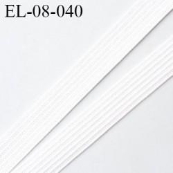élastique 8 mm plat fin polyamide élasthanne spécial lingerie de marque fabriqué en France couleur naturel prix au mètre