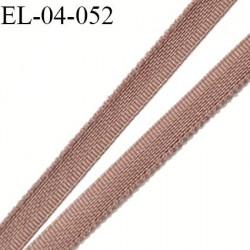 Elastique 4 mm fin spécial lingerie polyamide élasthanne couleur marron chataigne fabriqué en France largeur 4  mm prix au mètre