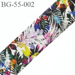 galon ruban 55 mm ganse rehausse ceinture couleur multi couleur des iles haut de gamme prix au mètre