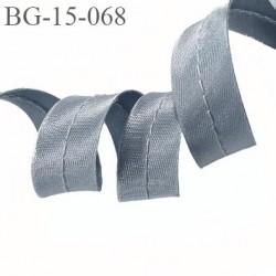 biais galon passepoil couleur gris argenté brillant largeur 15 mm possibilité de passer un cordon à l'intérieur prix au mètre