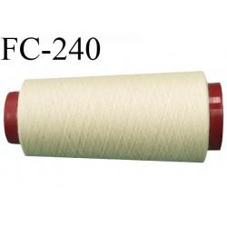 Cone de 2000 m fil polyester n° 120 couleur crème  longueur de 2000 mètres bobiné en France