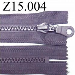 fermeture éclair longueur 15 cm  couleur mauve non séparable zip nylon