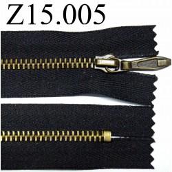 fermeture éclair longueur 15 cm  couleur noir non séparable zip métal