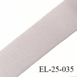 Elastique 25 mm bretelle bande soutien sg lingerie couleur mastic satiné  Fabriqué en France largeur 25 mm prix au mètre