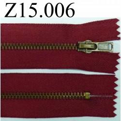 fermeture éclair longueur 15 cm  couleur rouge non séparable zip métal