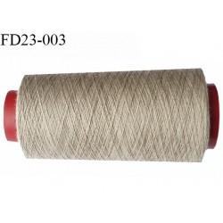 Destockage 1000 m cone de fil polyester fil n° 30 couleur beige longueur de 1000 mètres bobiné en France