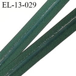 élastique bande anti glisse haut de gamme  couleur vert largeur 13 mm  bande silicone fabriqué en France prix au mètre