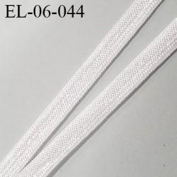 Elastique 6 mm fin couleur écru brillant spécial lingerie polyamide élasthanne fabriqué en France  6  mm prix au mètre
