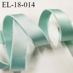 Elastique 18 mm bretelle et lingerie couleur vert atoll brillant très beau  largeur 18 mm prix au mètre