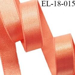 Elastique 18 mm lingerie couleur goyave brillant très beau fabriqué en France pour Grande marque largeur 18 mm prix au mètre