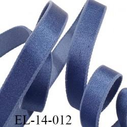 élastique 14 mm lingerie couleur bleu grande marque fabriqué en France polyamide élasthanne largeur 14 mm  prix au mètre