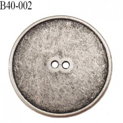 bouton 40 mm en métal style ancien patiné 2 trous diamètre 40 mm