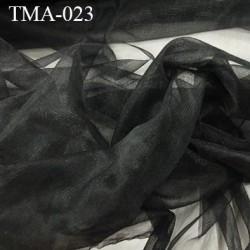 marquisette tulle  couleur noir largeur 107 cm prix pour 10 cm