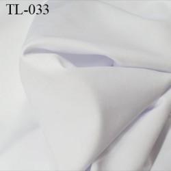 Tissu lycra elasthanne blanc fin très haut de gamme 165 gr au m2 largeur 148 cm prix pour 10 cm de longueur et 148 cm de large
