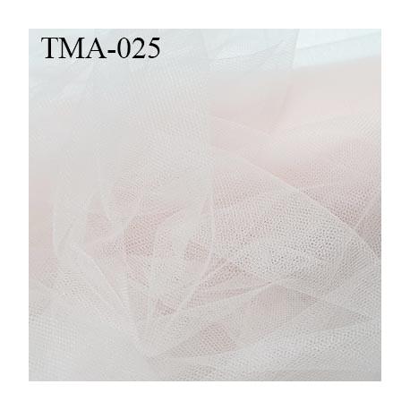 marquisette tulle spécial lingerie haut de gamme couleur rose pétale largeur 148 cm prix pour 10 cm