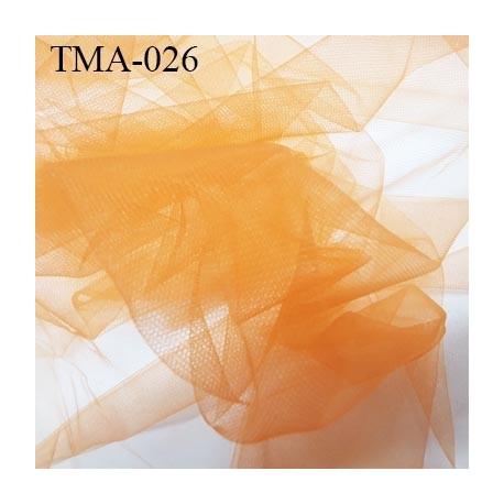 marquisette tulle spécial lingerie haut de gamme couleur orange largeur 130 cm prix pour 10 cm