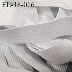 élastique 18 mm couleur naturel  souple superbe fabriqué en France  prix au mètre
