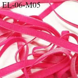 élastique lingerie 6 mm couleur fuschia grande marque fabriqué en France  largeur 6 mm  prix au mètre