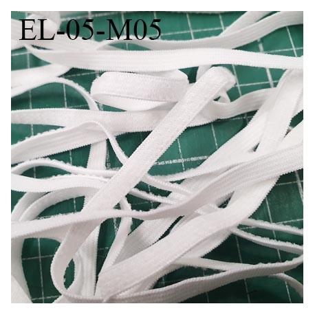 Elastique 5 mm spécial MASQUES Eco Tex lavable 60° élasthanne couleur naturel prix au mètre tarifs spéciaux par quantité