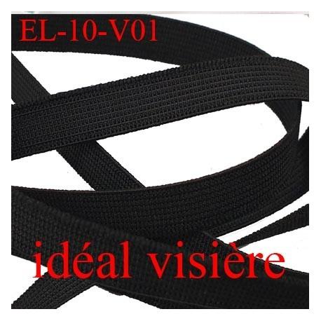 élastique idéal pour visière plat 10 mm  couleur noir souple et bonne élasticité largeur 10 mm prix au mètre