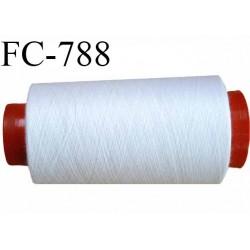 CONE 1000 m fil Polyester n° 120 couleur blanc  longueur 1000 mètres fil européen bobiné en France