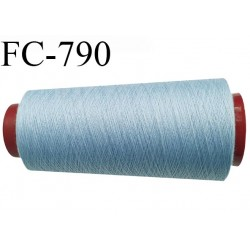 CONE 1000 m fil Polyester n° 120 couleur bleu clair longueur 1000 mètres fil européen bobiné en France