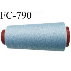 CONE 2000 m fil Polyester n° 120 couleur bleu clair longueur 2000 mètres fil européen bobiné en France