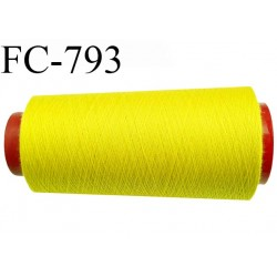 CONE 1000 m fil Polyester n° 120  jaune citron longueur 1000 mètres fil européen bobiné en France certifié oeko tex
