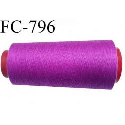 CONE 1000 m fil Polyester n° 120  pivoine longueur 1000 mètres fil européen bobiné en France certifié oeko tex