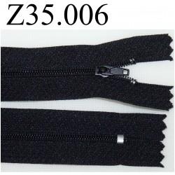 fermeture éclair longueur 35 cm couleur noir non séparable zip nylon largeur 2.5 cm