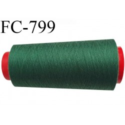 CONE 2000 m fil Polyester n° 120  vert longueur 2000 mètres fil européen bobiné en France certifié oeko tex