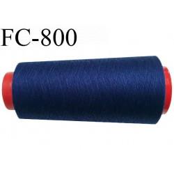 CONE 1000 m fil Polyester n° 120  bleu longueur 1000 mètres fil européen bobiné en France certifié oeko tex